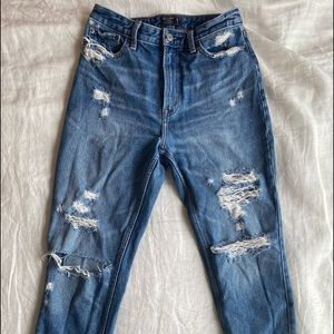 abercrombie ripped girlfriend jeans